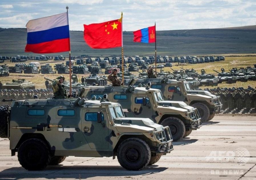 ボストーク2018、中国軍、モンゴル軍_s