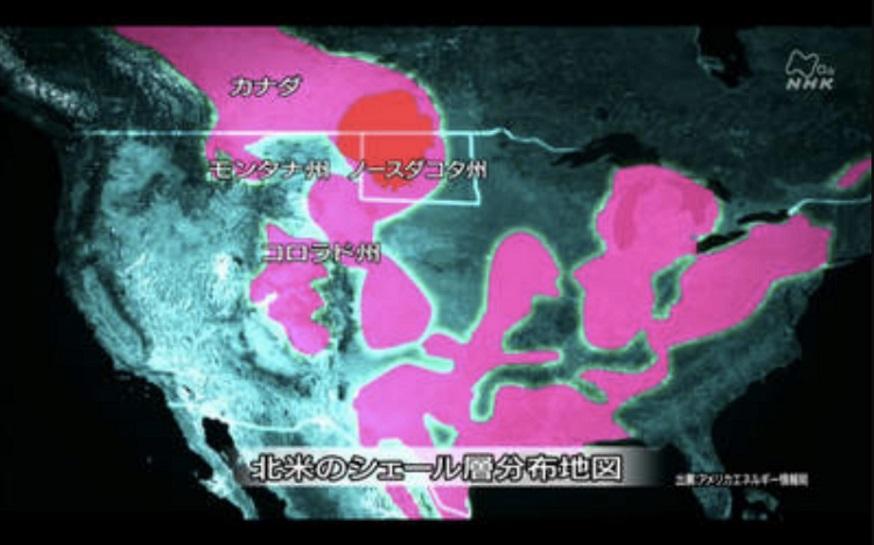 北米のシェール層、分布図_s